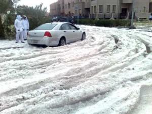 Hail in Kuwait